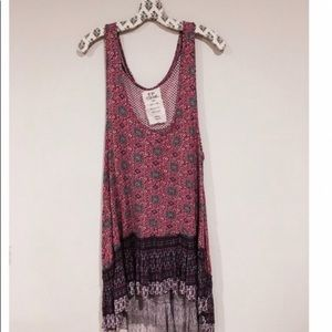 Free people One high low tank dress cotton